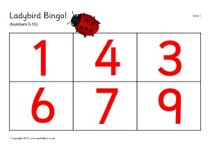 Printable Number Bingo / Lotto Games - SparkleBox