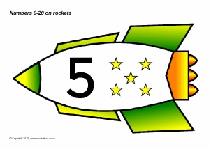 Space-Themed Number Classroom Display Resources - SparkleBox