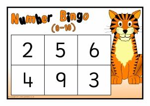 Printable Number Bingo / Lotto Games - SparkleBox
