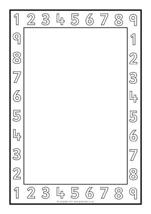 Ten Frame Chart Math | abcteach