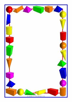 Printable Maths Page Borders Sparklebox