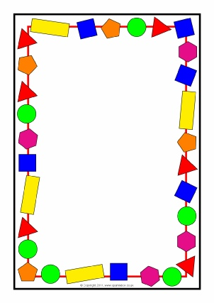 Printable Maths Page Borders - SparkleBox