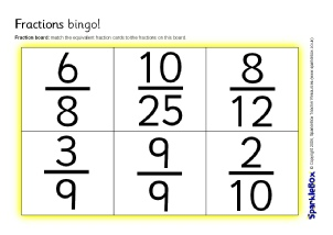 It is an image of Influential Fraction Bingo Printable