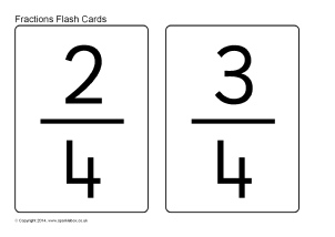image about Fraction Cards Printable named Fractions Key Schooling Materials and Printables - SparkleBox