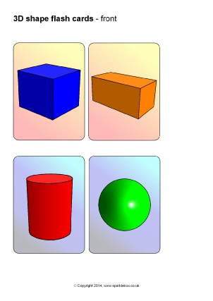 picture relating to Printable Shape Flash Cards identified as KS1 and KS2 3D Styles Training Products and Printables