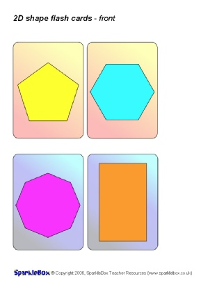 graphic regarding Free Printable Shape Flashcards referred to as KS1 and KS2 2D Styles Education Materials and Printables