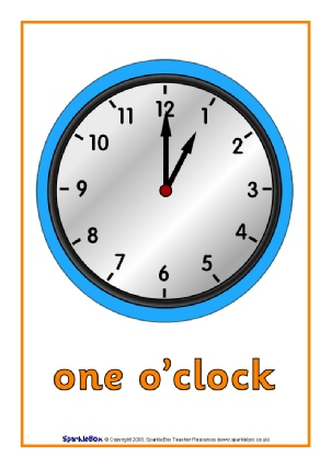 Oclock times primary teaching resources and printables sparklebox oclock time posters sb1428 ibookread Download