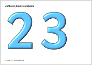 Cut Out Display Numbers Numbering For Display Boards