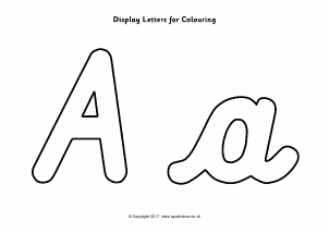 Cursive writing alphabet display