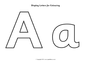 display letters for colouring sb9746