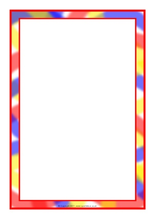 Themed A4 Page Borders for Kids, Editable Writing Frames ...