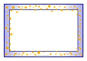 themed a4 page borders for kids editable writing frames and