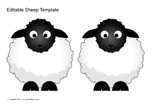 Légend image with regard to sheep template printable