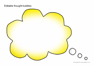 photograph about Printable Thought Bubbles called Summary Editable Clroom Present Elements Printables