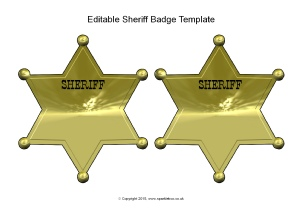 Other editable classroom display resources printables sparklebox editable sheriff badge templates sb11209 pronofoot35fo Images