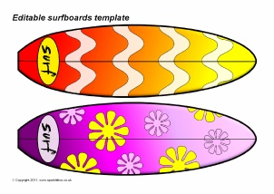 picture regarding Printable Surfboard Templates known as Other Editable Clroom Show Products Printables