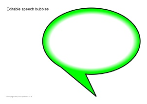 graphic regarding Printable Speech Bubbles named Summary Editable Clroom Show Elements Printables