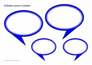 image relating to Printable Speech Bubbles called Summary Editable Clroom Demonstrate Materials Printables
