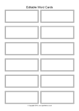 Flash Card Template For Word from www.sparklebox.co.uk