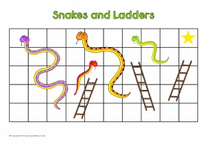 Editable primary classroom flash cards sparklebox for Snakes and ladders printable template
