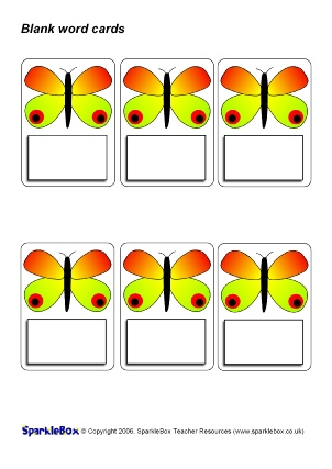 Printable Blank Flash Cards Template from www.sparklebox.co.uk