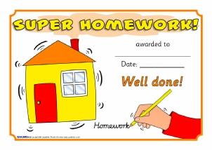 homework certificates sparklebox