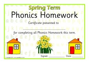 homework certificate sparklebox