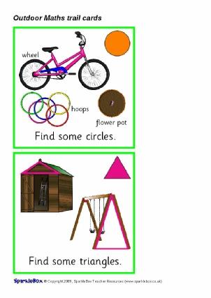 Outdoor Maths Trail Cards (SB2035) - SparkleBox