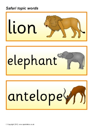 Free Animals Topic Teaching Resources And Printables
