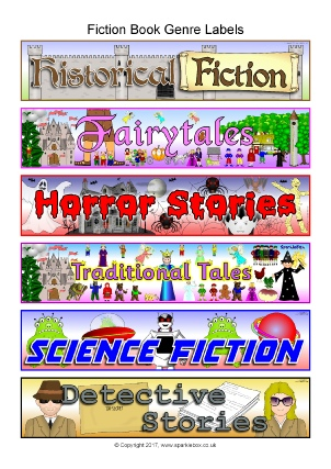 photograph relating to Library Shelf Labels Printable named Higher education Library Symptoms and Labels for Basic - SparkleBox