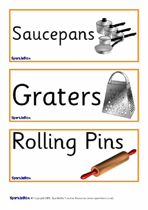 Primary School Kitchen Amp Cooking Area Signs Labels And