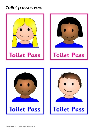 Toilets And Washroom Signs Labels For Primary School