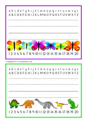 Printable Classroom Desktop Placemats Sparklebox