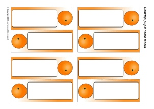 Pupil Fold-over Desktop Name Labels - SparkleBox