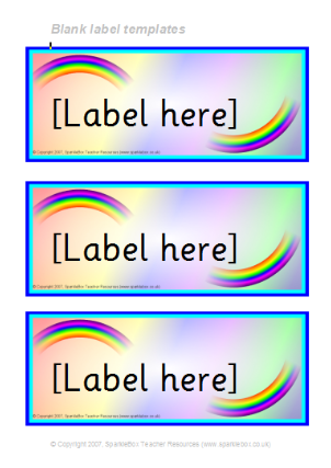 Themed Editable Classroom Labels for Primary School - SparkleBox