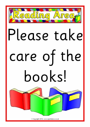 Book Corner / Reading Area Classroom Signs & Labels - SparkleBox