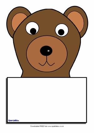 bear themed classroom printables sparklebox