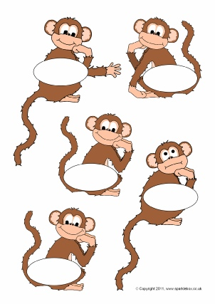graphic regarding Printable Monkeys identify Monkey-Themed Clroom Printables - SparkleBox