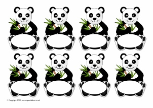 panda themed classroom printables sparklebox