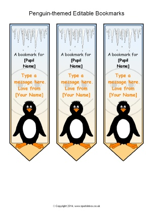 image about Printable Pictures of Penguins titled Penguin-Themed Clroom Printables - SparkleBox
