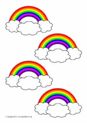 photo regarding Rainbow Template Printable named Rainbow-Themed Clroom Printables - SparkleBox