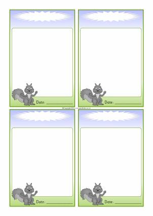 graphic regarding Squirrel Target Printable identify Squirrel-Themed Clroom Printables - SparkleBox