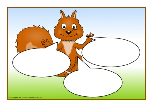 picture regarding Printable Squirrel Target titled Squirrel-Themed Clroom Printables - SparkleBox