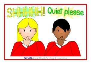 photo about Printable Quiet Signs titled Clroom Symptoms and Labels - SparkleBox