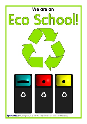 image relating to Recycle Sign Printable identify Eco College and Recycling Indications and Labels - SparkleBox