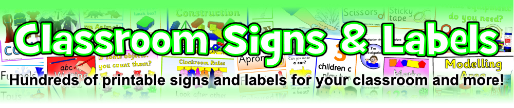 image about Printable Classroom Labels named Clroom Signs or symptoms and Labels Printables for Main Educational facilities