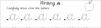 cursive writing letter formation