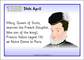 Mary Queen Of Scots Timeline Posters Sb9285 Sparklebox