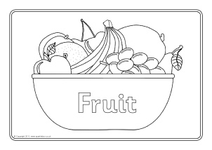 fruit coloring pages sheets energy | Welsh Food Teaching Resources and Printables - SparkleBox