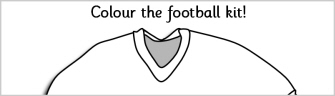 simple printable sheet with a blank football kit to be used in as ...